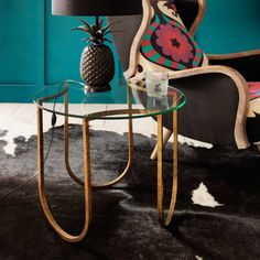'U' Iron Side Table - Side Tables - Tables - Furniture