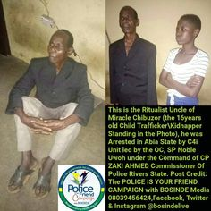 See 16 Year Old Female Kidnapper Who Abduct Victims For Her Uncle To Use As Rituals