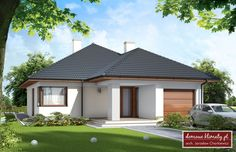 Single story contemporary home design. Bungalow Renovation, My House Plans, Architecture Plan, Pool Designs, Home Fashion, Gazebo, Cottage, Exterior, Outdoor Structures