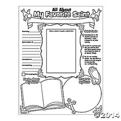 Color Your Own All About Saints Posters These Are Just Adorable Catholic Crafts