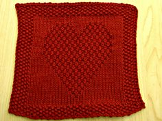 Double Knitting Heart Pattern : 1000+ images about Knitting - Baby Afghans (Dishcloth ...
