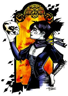 Death from Neil Gaiman's Sandman series. Art by Charles Holbert Jr.