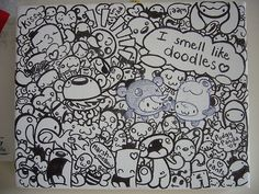 I smell like doodles! For sale on my shop tomorrow! Doodle Sketch, Doodle Drawings, Art Drawings Sketches, Funny Doodles, Cute Doodles, Doodle Learn, Doodle Canvas, Pig Drawing, Drawing Ideas