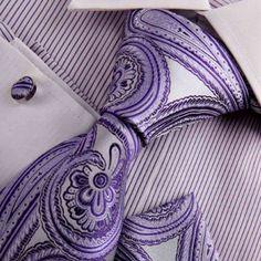 Amazon.com: Purple silk ties men indigo Paisley Woven Silk Tie Handkerchiefs Cufflinks Gift Box Set Y Relax necktie Set H8009: Clothing