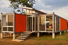 20 Chic Homes Made Out of Shipping Containers via Brit + Co.