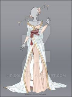 Fashion Drawing (CLOSED) Adoptable Outfit Auction 14 by Risoluce on DeviantArt Dress Drawing, Drawing Clothes, Drawing Drawing, Fashion Design Drawings, Fashion Sketches, Anime Dress, Anime Kimono, Character Outfits, Anime Outfits