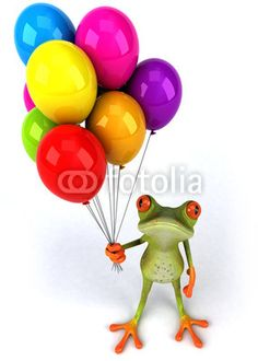 Happy Birthday! Funny Frogs, Cute Frogs, Birthday Songs, Happy Birthday, Frog Rock, Frog Drawing, Frog Statues, Butterfly Clip Art, Frog Art