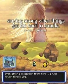 """OMG. Pokemon mystery dungeon blue was the first pokemon game I have ever played. I could not stop crying. Even at Pokemon Mystery Dungeon explorers of darkness and I knew that I would die and come back......I could not stop sobbing. My mom even had to check on me to see if I was alright. I said,""""Oh, it's just that I feel so sad for my partner"""" and she looked at me like I was crazy. Lol. I will remember that face."""