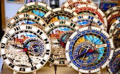 Stock Photo - Miniatures of Prague's famed astronomical clock are sold as souvenirs in many of Prague's Old Town shops. Editorial use only Prague Shopping, Prague Travel, Prague Old Town, Bohemia Crystal, Prague Czech Republic, Backpacking Europe, Krakow, Adventure Is Out There, Travel