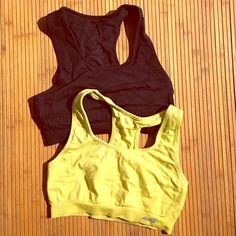 Sports bra bundle Black jockey brand sports bra. Excellent condition. Only inner label washed off. Yellow Avia sports bra. Both size small. Intimates & Sleepwear Bras