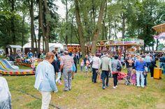Bergmannsfest in Lehesten/Thür. Wald am 2.7.2017. Veranstaltungen rund um den Lunapark. Hier: Stellplätze der Schausteller. Woodland Forest