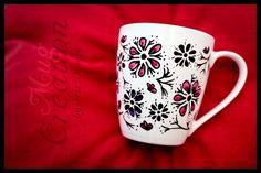 ooo Flowers ooo Hand Painted Porcelain Mug
