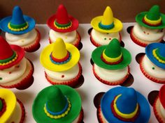 Sombrero Edible Cupcake Toppers on Etsy, $18.00