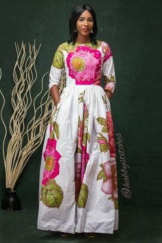 This beautiful Maxi dress is handmade with love. It is made to fit buyers exact measurements. Please do provide the following measurements when placing an order bust______ cm/inch waist______cm/inch hip:_______cm/inch shoulder to shoulder :_______cm/inch shoulder to waist :_______cm/inch