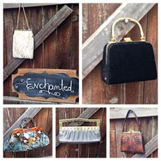 Some of the handbags, purses and clutch bags Enchanteddecorations.com will be taking to the Martin baseball craft and specialty show October 11 & 12, 2014