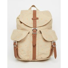 Herschel Supply Co Dawson Backpack (€84) ❤ liked on Polyvore featuring bags, backpacks, backpack, multi, brown drawstring bags, backpack bags, day pack backpack, polyester drawstring backpack and drawstring backpack