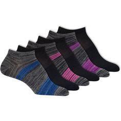Danskin Ultralite NoShow Socks, Pack of 6, Size: 4-10, Assorted