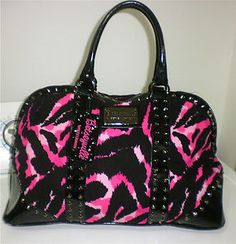 Betsey Johnson<3 i dnt like pink. But i LOVE Betsey Johnson ;-) & this bag is so pretty!!  My daughter would love love love it!