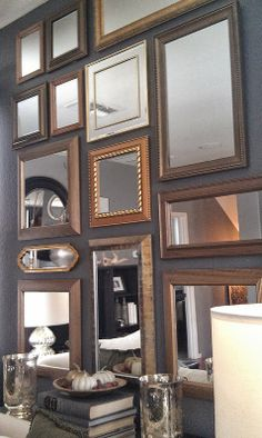 FOCAL POINT STYLING: GOLD MIRROR GALLERY WALL FOCAL POINT