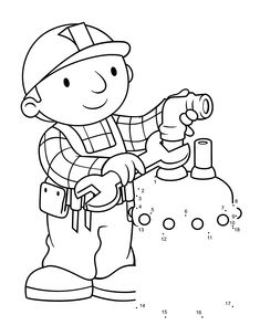 Free Bob The Builder Coloring Pages With Printable For Kids