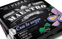 Maestro Pizza - The Dieline -  I'm ready for lunch #packaging. Mmmm pizza. PD