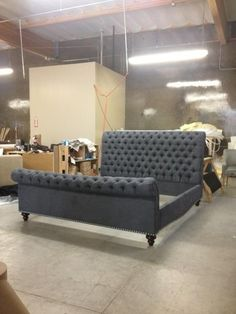 Must have this bed!!  Santa Barbara Collection | Custom Upholstered Sleigh Bed