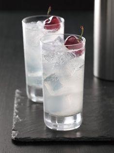 cherry vodka, club soda, lemon juice + simple syrup.
