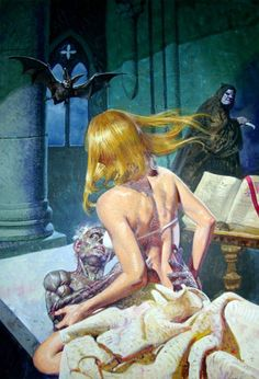 Pulp horror Art | ora the vampire # illustration # art