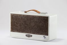 This is so cool - an upcycled vintage timber sound system with modern audio!