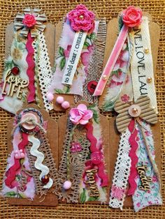 I'm looking forward to sharing the latest addition to my # etsy shop: Fabric Tags / Handmade Tag ... - Fabric Craft Ideas Card Tags, Gift Tags, Card Making Kits, Handmade Tags, Handmade Ideas, Candy Cards, Scrapbook Embellishments, Fabric Tags, Pink Fabric