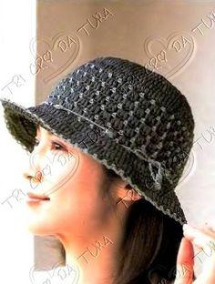 Free diagram for crochet ladies hat.  CAPPELLO 1 of 2