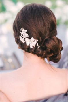Classic side bun wedding hairstyle - christina, The up all night star's low, loose, chignon hairstyle would be ideal for a beach wedding. Description from hairstylerideas.top. I searched for this on bing.com/images