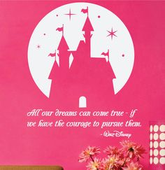 Walt Disney Wall Decal  Quote  All our dreams by CustomVinylPrints, $25.00
