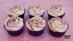 Purple Rose Cupcakes | Devils Food Cake Cupcakes with Purple… | Flickr