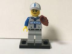 Lego Baseball MINIFIGURES Lot 9 Players People Bat /& Glove Lego Baseball Minifig