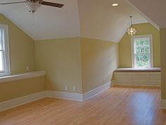 Could block out front corner of attic space, to make closet - like the addition of a bench seat under window
