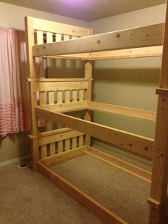 Decorate your room in a new style with murphy bed plans Girls Bunk Beds, White Bunk Beds, Modern Bunk Beds, Cool Bunk Beds, Bunk Beds With Stairs, Triple Bunk Beds Plans, Bunk Bed Plans, Murphy Bed Plans, Tripple Bunk Bed
