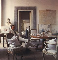 Cy Twombly's home in Rome 1966 © Horst P. Horst