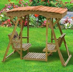 garden glider plans | Shown Rollback Rose style with optional cedar roo f.