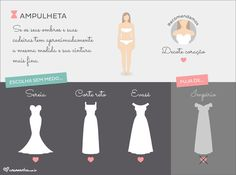 Ampulheta - O vestido ideal para a forma do seu corpo