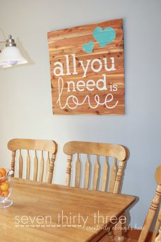 Kitchen Update - Work in Progress - seven thirty three Diy Signs, Wall Signs, Pallet Art, Updated Kitchen, My New Room, Wooden Signs, Home Projects, Wood Crafts, Diy Home Decor