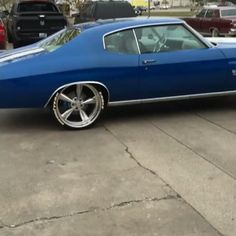 wade whipsbywade video clip tire wheel master blue and white chevelle goodyear raised