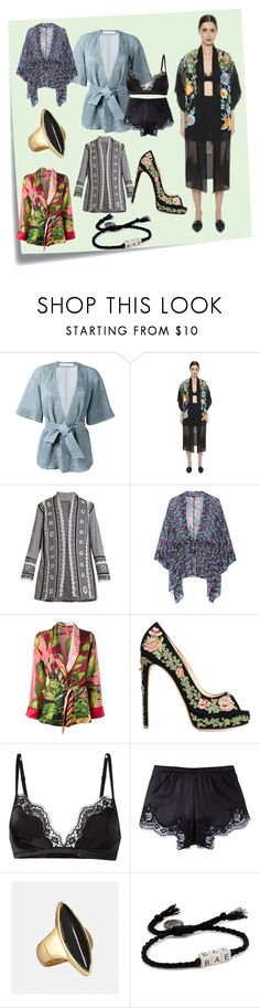 """Kimino Jackets..**"" by yagna ❤ liked on Polyvore featuring Post-It, Drome, Alberta Ferretti, Dodo Bar Or, Anna Sui, F.R.S For Restless Sleepers, Marchesa, Dolce&Gabbana, Avenue and Venessa Arizaga"