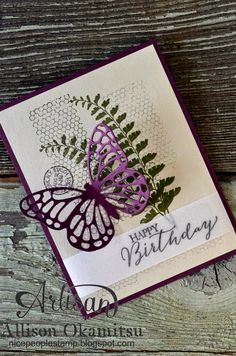 nice people STAMP!: Butterfly Basics Card