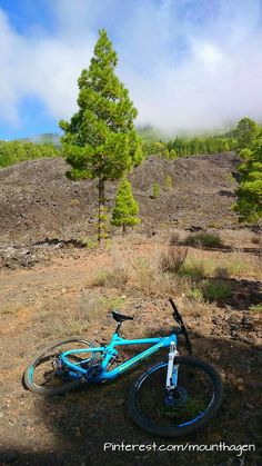 Mountainbike tours on volcanic sand in La Palma, Canary Islands