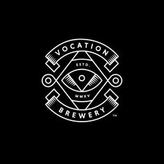 Package Design for Vocation Brewery by Robot Food — BP&O – Package Design for Vocation Brewery by Robot Food — BP&O Monolinear logo design by Robot Food for British craft beer brewer Vocation. Beer Logo Design, Brewery Design, Badge Design, Brewery Logos, Beer Brands, Badge Logo, Design Graphique, Grafik Design, Graphic Design Inspiration