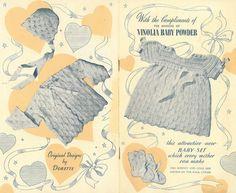 Vinola baby matinee dress and coat set - vintage knitting pattern