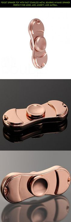 Fidget Spinner Toy with Fast Stainless metal Bearing –Hand Spinner Perfect For ADHD, ADD, Anxiety, and Autism Adults Children by EasternPin (015 Rose Gold) #kit #gadgets #drone #rose #shopping #parts #fpv #spinner #technology #plans #gold #products #tech #racing #camera #metal