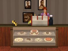 The Olympus — Exhibitor of Desserts Sims 2 Games, Sims 4 Cc Furniture, Espresso Bar, Buy Business, Bar Counter, My Sims, Tool Design, Liquor Cabinet, Olympus