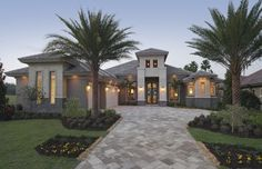 La Castille - contemporary - exterior - other metro - Castle Harbour homes- cool house and driveway